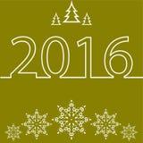 Feliz Navidad y Feliz Año Nuevo para 2016 stock de ilustración