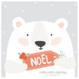 Feliz Navidad y nueva tarjeta feliz de 2016 años stock de ilustración
