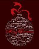 Feliz Navidad y otras palabras del día de fiesta Fotos de archivo