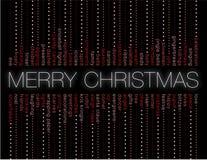 Feliz Navidad y otras palabras del día de fiesta Imagen de archivo