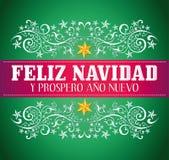 Feliz navidad y prospero ano nuevo royalty free illustration
