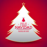Feliz Navidad y prospero ano nuevo, Spanish translation: Merry Christmas and Happy new Year Stock Images