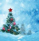 Feliz Navidad y tarjeta de felicitación de la Feliz Año Nuevo con el copia-espacio fotos de archivo libres de regalías