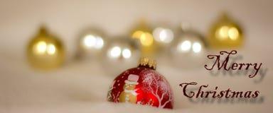Feliz Navidad y un deseo por un buen Año Nuevo Imagen de archivo libre de regalías