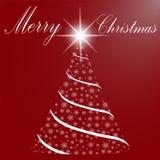 Feliz Navidad y una Feliz Año Nuevo Árbol de navidad del snowflak Imágenes de archivo libres de regalías