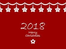 Feliz Navidad y una Feliz Año Nuevo 2018 libre illustration