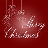 Feliz Navidad y una Feliz Año Nuevo Bolas del árbol de navidad del sn Imágenes de archivo libres de regalías