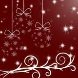Feliz Navidad y una Feliz Año Nuevo Bolas del árbol de navidad del sn Fotografía de archivo