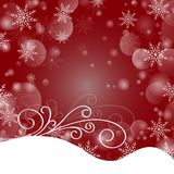 Feliz Navidad y una Feliz Año Nuevo Copos de nieve que brillan intensamente en Foto de archivo