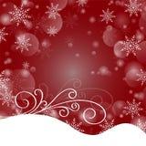 Feliz Navidad y una Feliz Año Nuevo Copos de nieve que brillan intensamente en Fotografía de archivo