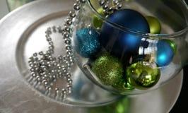 Feliz Navidad y una decoración de las tarjetas de la Feliz Año Nuevo Fotografía de archivo