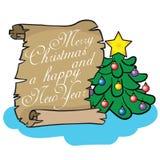 Feliz Navidad y una Feliz Año Nuevo Imagenes de archivo