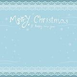 Feliz Navidad y una Feliz Año Nuevo Tarjeta de felicitación inscripción Foto de archivo libre de regalías