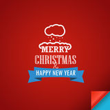Feliz Navidad y una tarjeta de felicitación de la Feliz Año Nuevo Imagenes de archivo