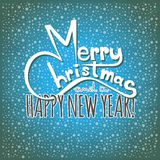 Feliz Navidad y una tarjeta de la Feliz Año Nuevo Fotos de archivo