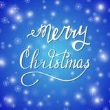 Feliz nuevo azul de Navidad Imagen de archivo