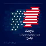 Feliz 4o julho, Dia da Independência dos EUA Fundo abstrato do vetor Conceito de projeto para o cartão, bandeira, Imagem de Stock Royalty Free