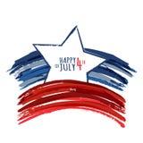 Feliz 4o julho, Dia da Independência dos EUA Grunge abstrato do vetor ilustração royalty free