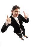 Feliz para o sucesso!!! fotografia de stock royalty free