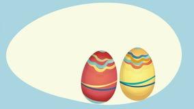Feliz Pascua holiday card with eggs. Feliz Pascua holiday video card with eggs stock illustration