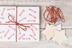Feliz regalo de Navidad sellado Imágenes de archivo libres de regalías