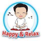 Feliz & relaxe Imagem de Stock