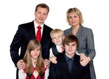 Feliz retrato grande de la familia Fotografía de archivo