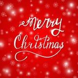 Feliz rojo de Navidad Imágenes de archivo libres de regalías