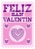Feliz San Valentin, diseño español feliz del vector del texto de día de San Valentín libre illustration