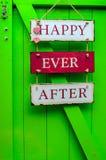 Feliz siempre después Fotos de archivo