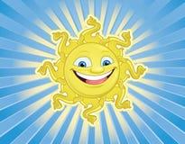 Sun sonriente hace frente Imagen de archivo