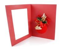 Feliz tarjeta de felicitación de Navidad Imagen de archivo