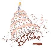 Feliz torta Fotografía de archivo libre de regalías