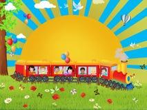 Feliz tren Imagen de archivo libre de regalías