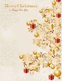 Feliz vecto de lujo del fondo EPS10 del árbol de navidad Fotografía de archivo