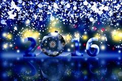2016 Felizes Natais e ano novo feliz Fotos de Stock Royalty Free