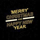 2019 Felizes Natais e ano novo feliz para seus folhetos e cartões sazonais ou convites temáticos do Natal Fotografia de Stock