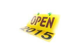 2015 Felizes Natais e insetos do ano novo feliz, tampas no branco Imagens de Stock Royalty Free