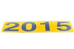 2015 Felizes Natais e insetos do ano novo feliz, tampas no branco Fotografia de Stock
