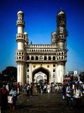 Fell in love with the architecture of charminar stock photo