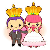Fell in love with the prince and princess. A couple of Love Char Royalty Free Stock Photo
