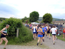 Fell Race, Hope, Derbyshire. Royalty Free Stock Photography