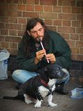 Tin whistle busker. This fella plays a beautiful tune and is a really top guy Royalty Free Stock Photography