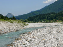 Fella river, Northeast Italy Royalty Free Stock Photography