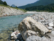 Fella river, Northeast Italy Royalty Free Stock Photos