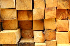 Felled wood. Pattern of a bunch of felled wood Royalty Free Stock Images