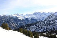 Fellhorn在冬天 阿尔卑斯,德国 图库摄影