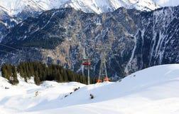 Fellhorn在冬天 阿尔卑斯,德国 免版税库存图片
