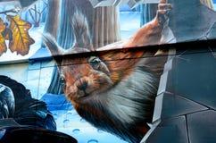 Fellow Glasgow Residents mural Stock Photo