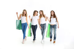 The Fellowship of the beautiful women on shopping Stock Photo